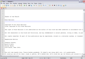 Notepad++ with rough text