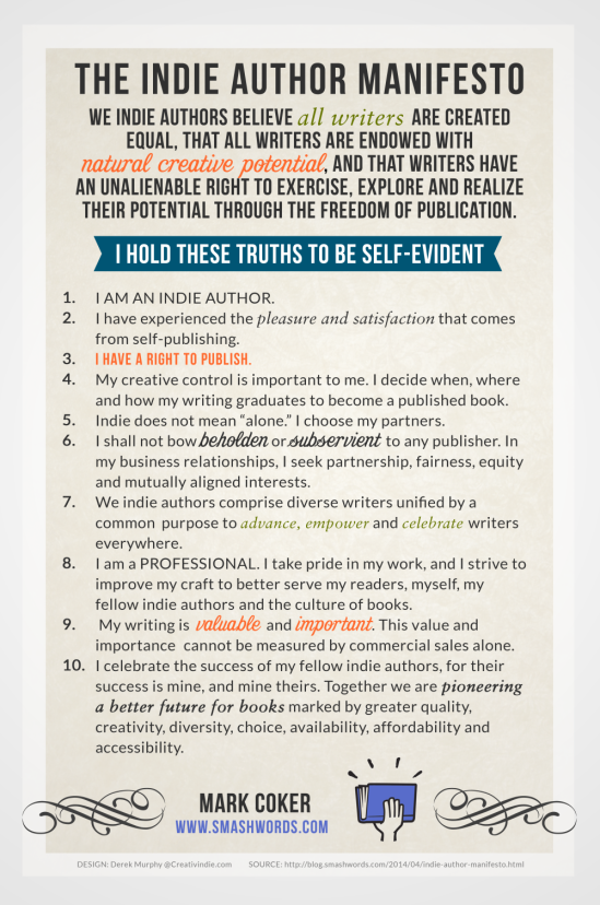 The Indie Author Manifesto, by Mark Coker
