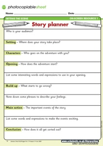 KS2 Story Planner