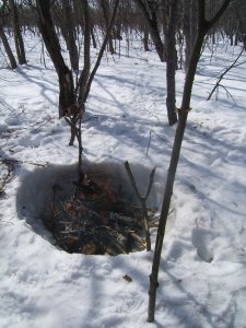 Snow Fire Pit