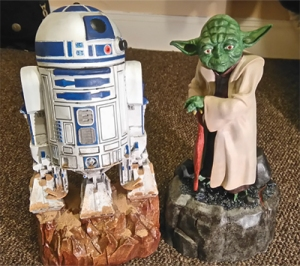 Yoda & R2 Painted
