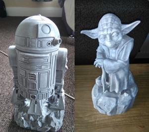 Yoda & R2D2 unpainted