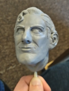 Superman head sculpt